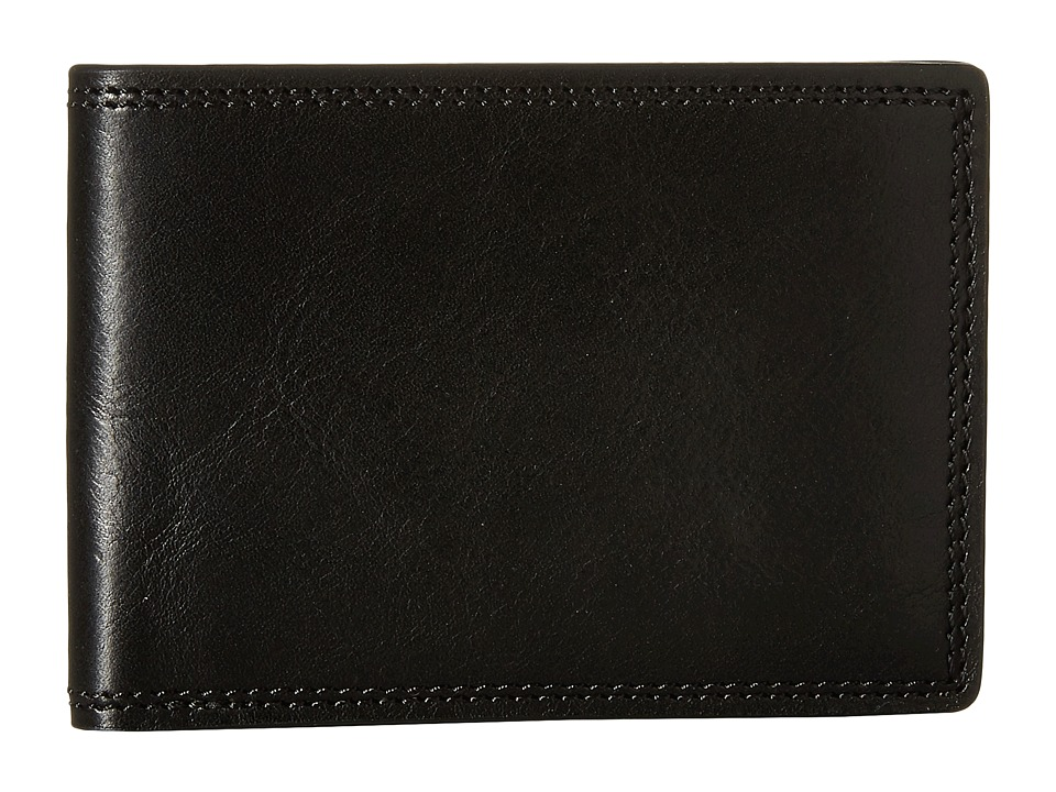 Bosca - Dolce Collection - Small Bifold Wallet (Black) Bi-fold Wallet