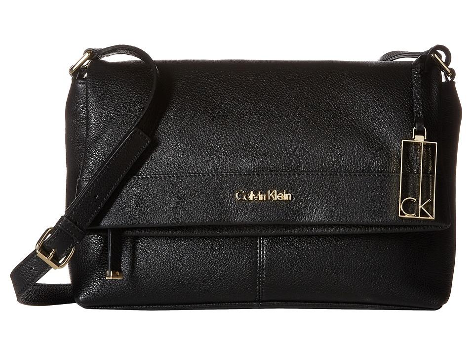 Calvin Klein - Pebble Crossbody (Black/Gold) Cross Body Handbags