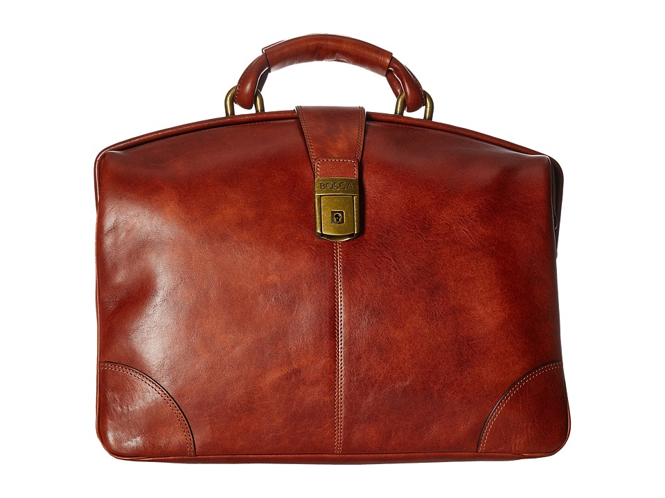 Bosca Dolce Collection Soft Partners Brief (Amber) Briefcase Bags