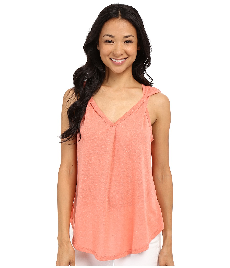 Bobeau Aerin Twist Strap Tank Top Peach Womens Sleeveless
