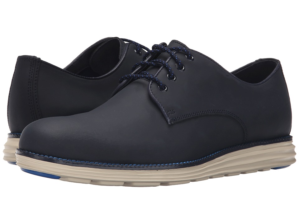 Cole Haan Original Grand Plain Oxford Blazer Blue Matte Leather Mens Lace up casual Shoes