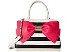 Betsey Johnson Ready Set Bow Satchel (Stripe)