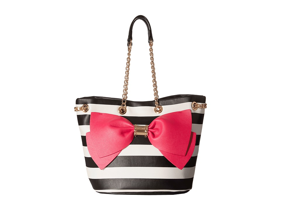 Betsey Johnson - Still Hopelessly Romantic Bucket (Stripe) Handbags