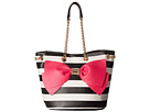 Betsey Johnson Still Hopelessly Romantic Bucket (Stripe)