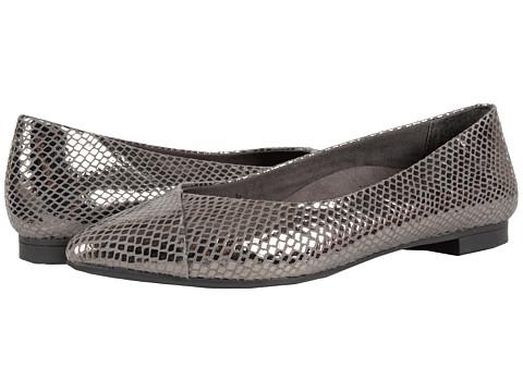 VIONIC Gem Caballo Ballet Flat - Gunmetal Snake