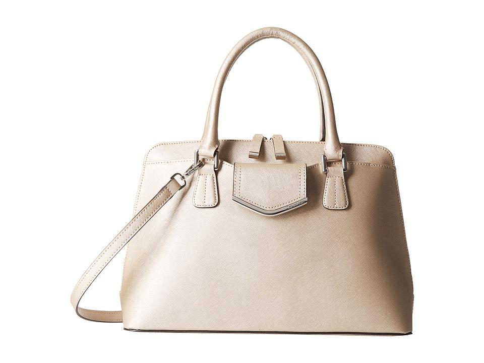 Calvin Klein - On My Corner H3GD11RP (Metallic Taupe) Satchel Handbags