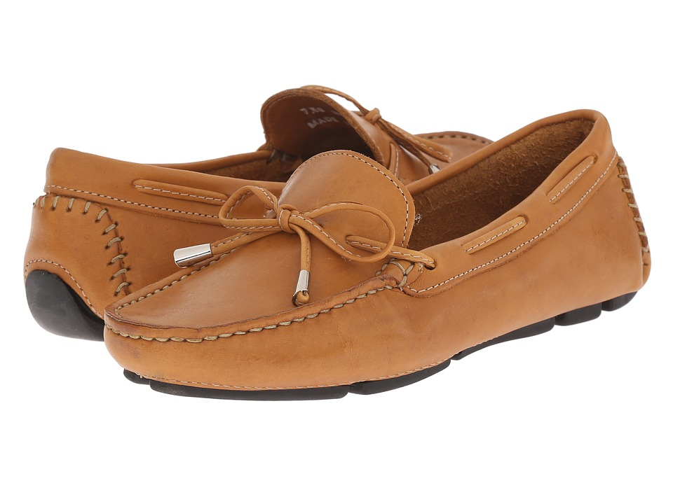 Massimo Matteo Tie Driver (Tan Bison Leather) Slip-On Shoes