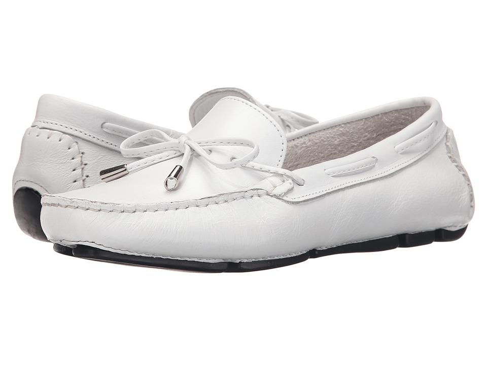 Massimo Matteo Tie Driver (White Turino Leather) Slip-On Shoes