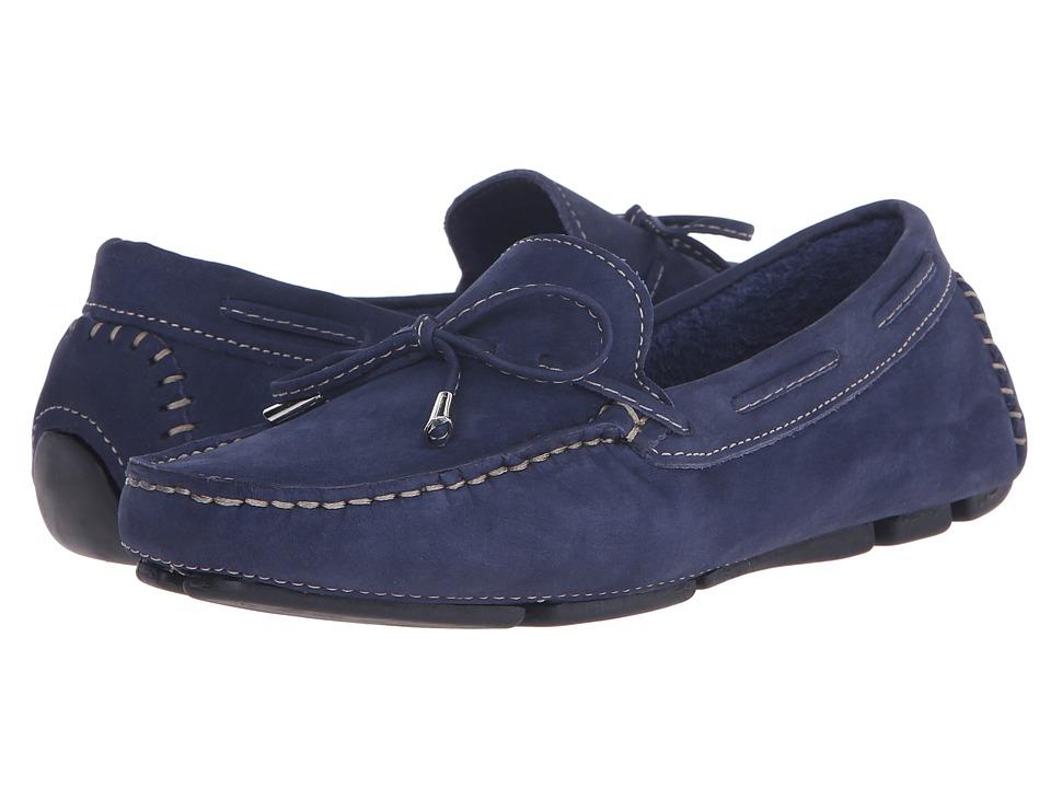 Massimo Matteo Tie Driver (Navy Nubuck) Slip-On Shoes