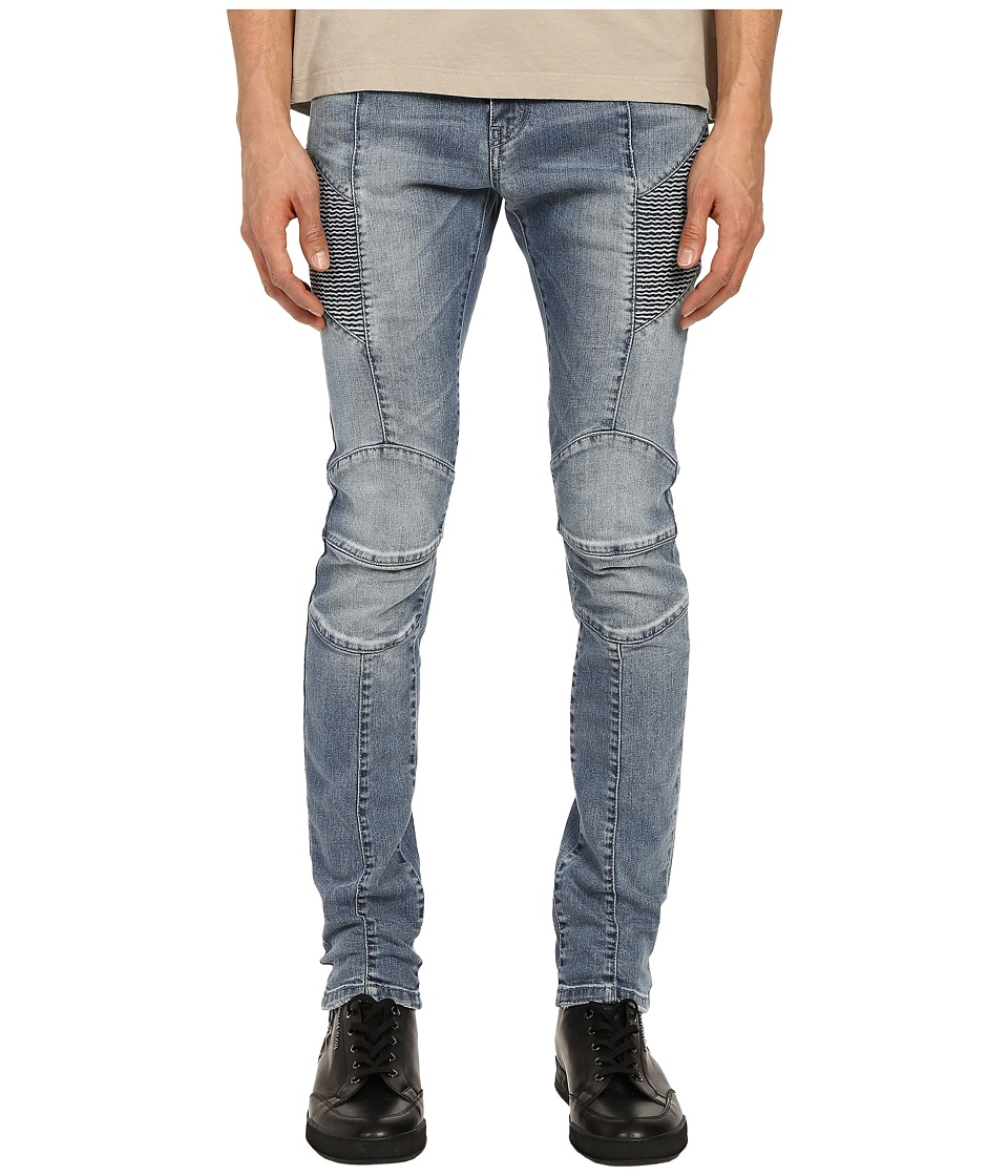 Pierre Balmain Faded Biker Jeans Denim Blue Mens Jeans