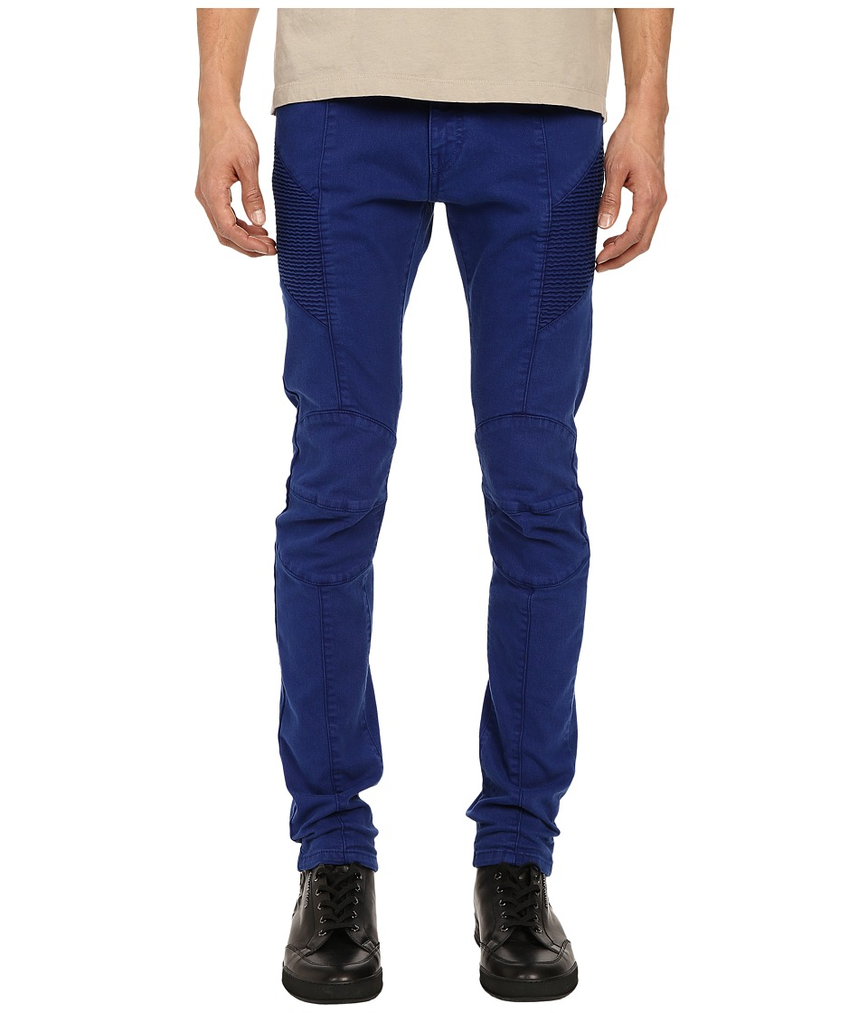 Pierre Balmain Biker Jeans Royal Blue Mens Jeans