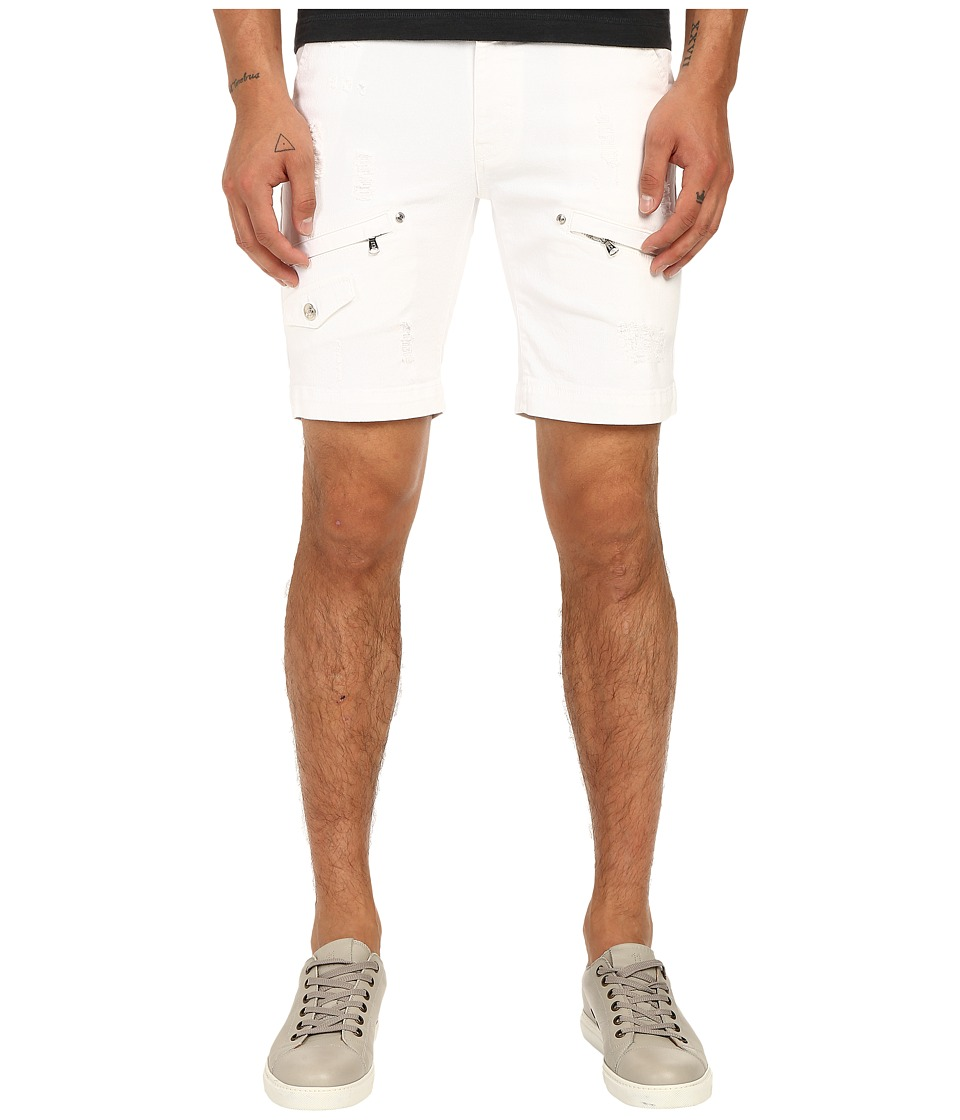 Pierre Balmain Classic Shorts Optic White Mens Shorts