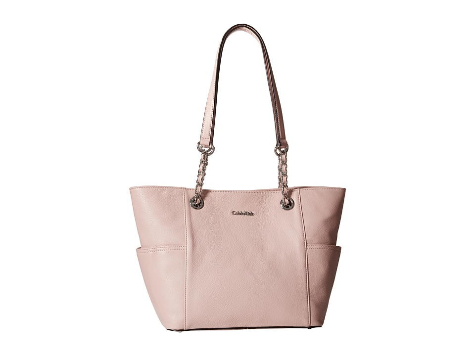 Calvin Klein - Key Item Leather Tote (Dusted Rose) Tote Handbags