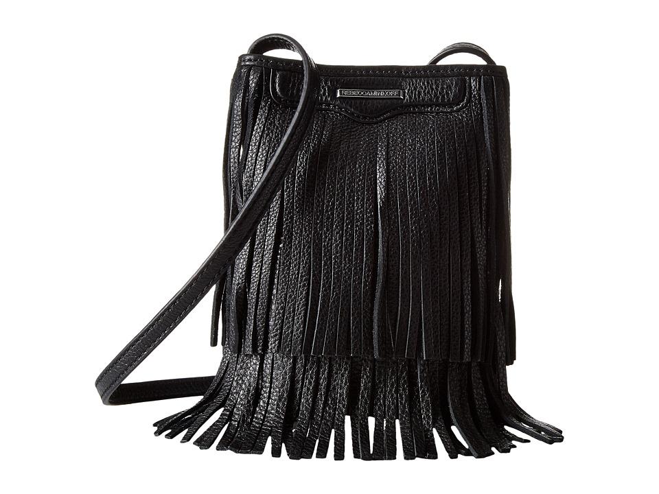 Rebecca Minkoff - Finn Phone Crossbody (Black) Cross Body Handbags