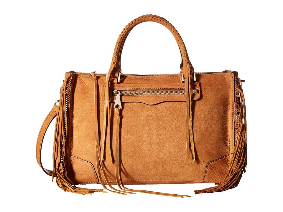 Rebecca Minkoff Fringe Regan Satchel Tote Almond Satchel Handbags
