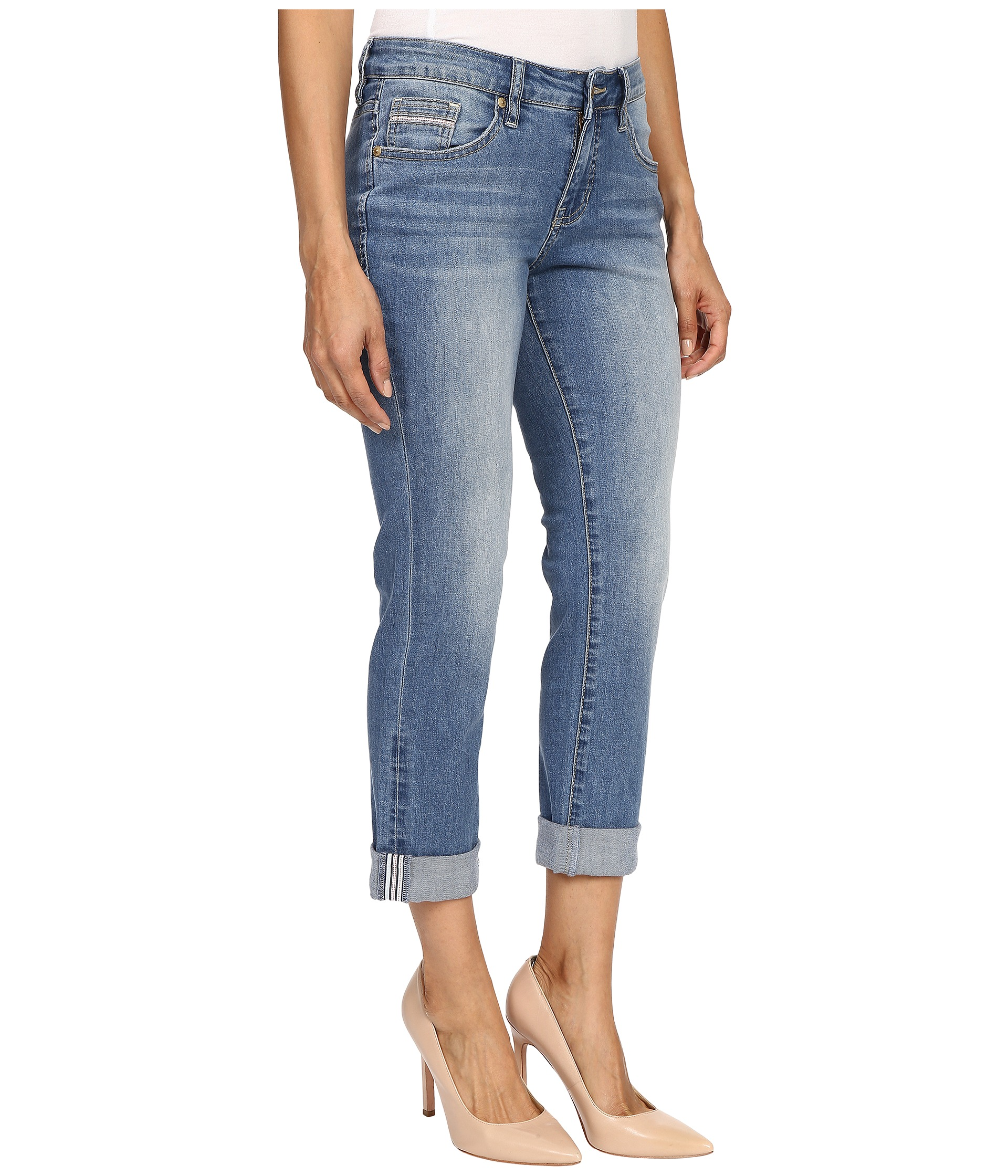 Jag Jeans Petite Petite Alex Boyfriend in Rock Water Blue - Zappos.com Free Shipping BOTH Ways