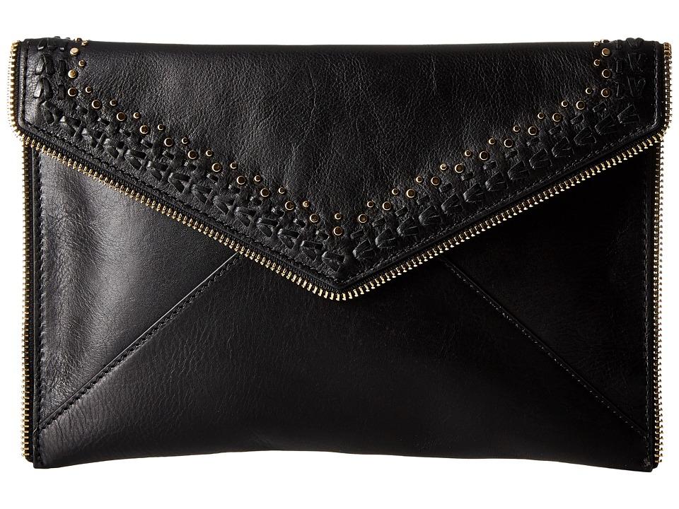 Rebecca Minkoff - Leo Clutch with Studs (Black) Clutch Handbags
