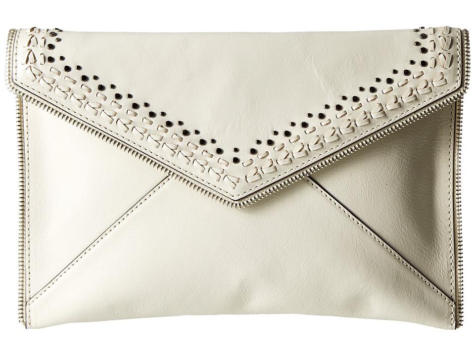 Rebecca Minkoff Leo Clutch with Studs Antique White Clutch Handbags