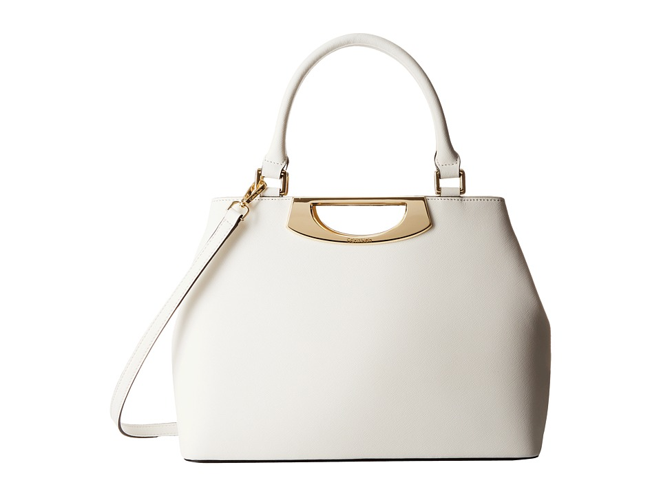 Calvin Klein - Saffiano Shopper (White) Tote Handbags