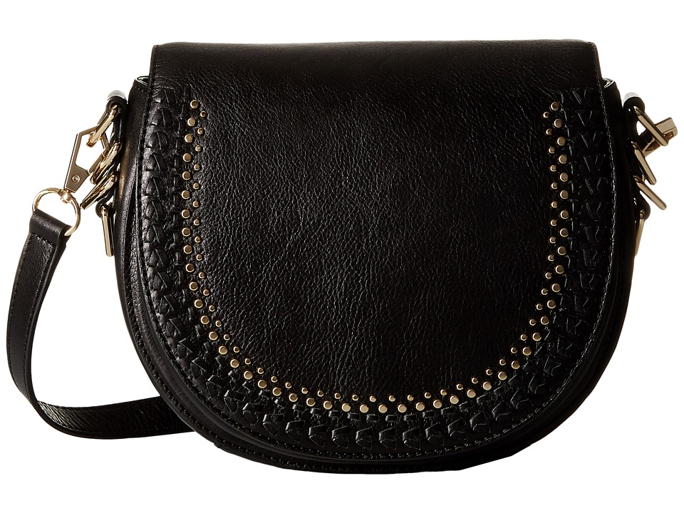 Rebecca Minkoff - Astor Saddle Bag with Studs (Black) Handbags