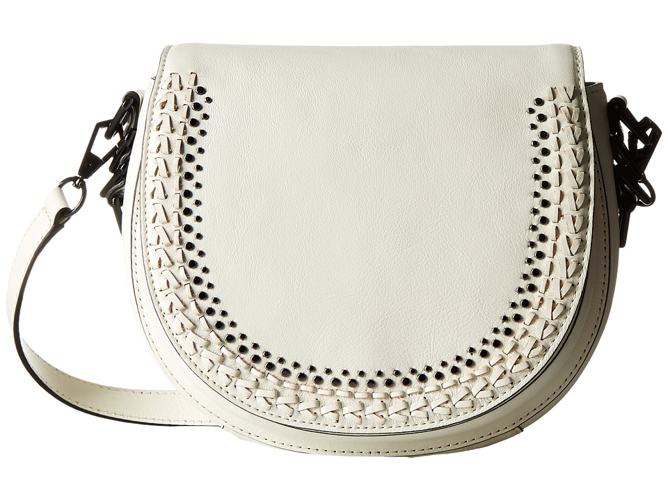 Rebecca Minkoff - Astor Saddle Bag with Studs (Antique White) Handbags