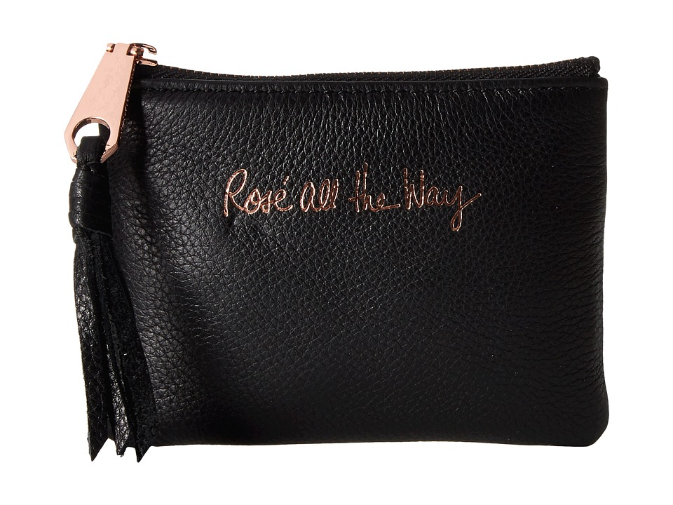 Rebecca Minkoff - Betty Pouch - Rose All the Way (Black) Travel Pouch