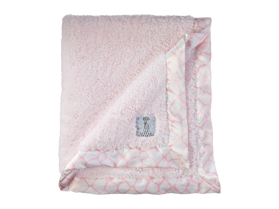 Little Giraffe Chenille Giraffe Blanket Pink Blankets