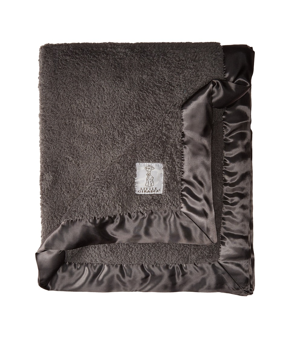 Little Giraffe Chenille Baby Blanket (Charcoal) Sheets Be...
