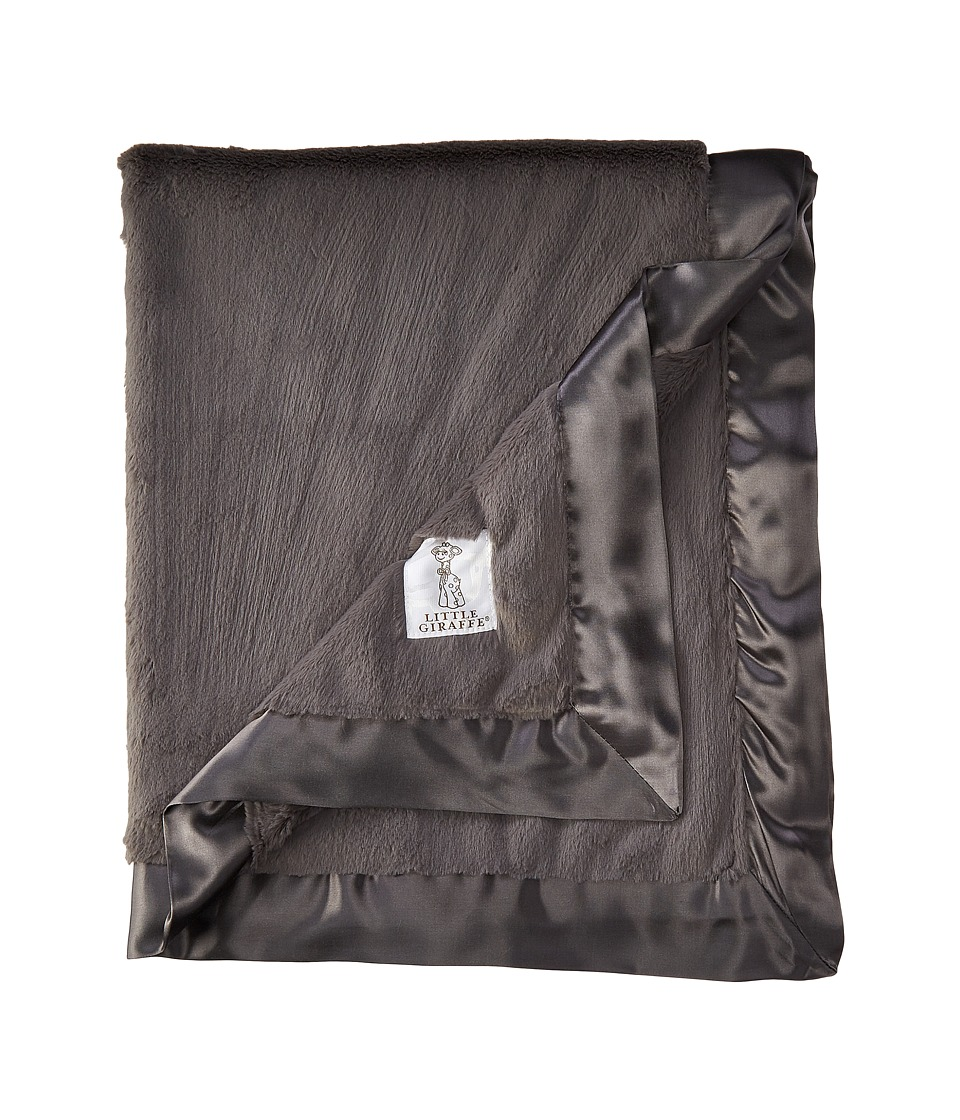 Little Giraffe Luxe Baby Blanket (Charcoal) Sheets Bedding
