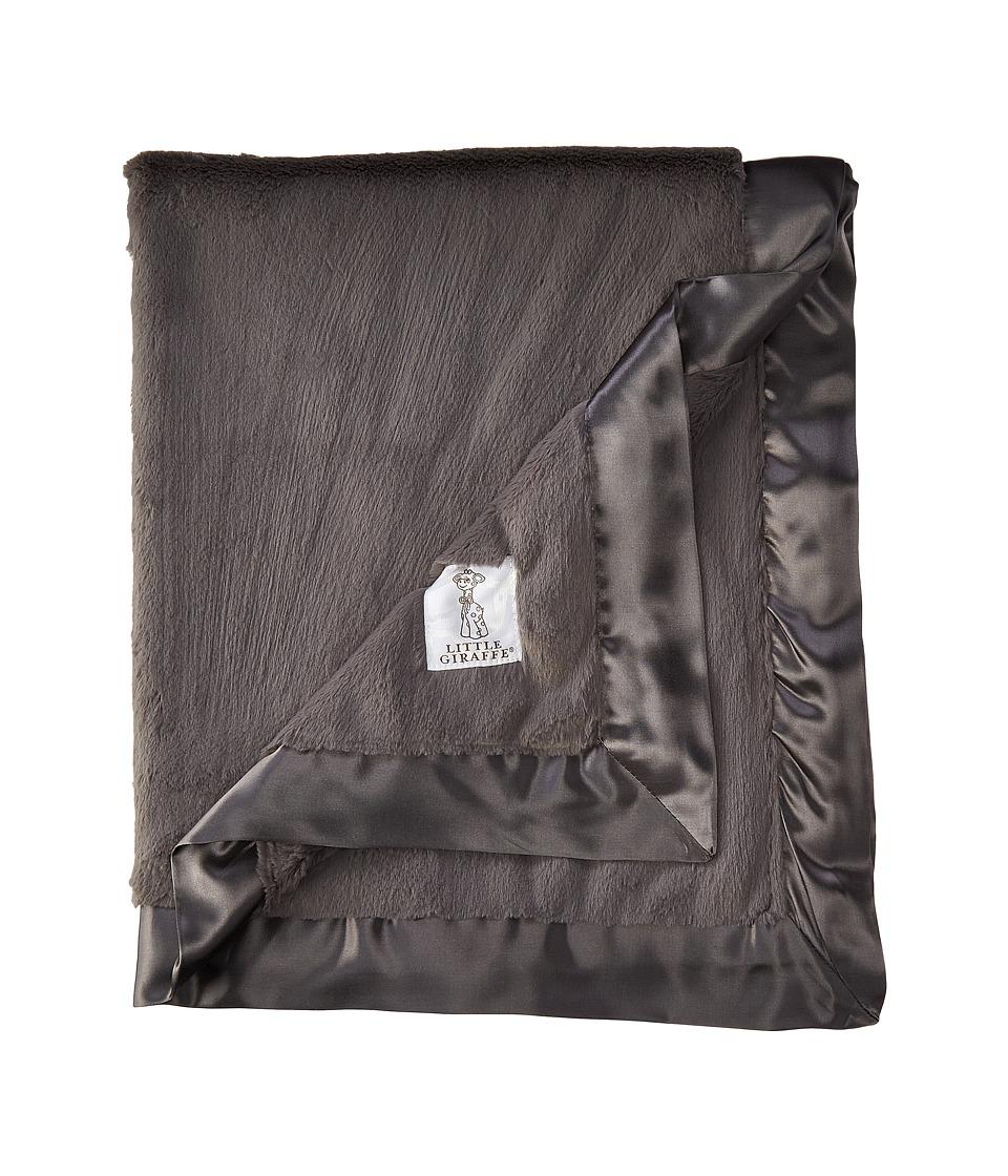 Little Giraffe Luxe Baby Blanket (Charcoal) Sheets Bedding