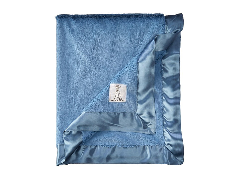Little Giraffe Luxe Baby Blanket (Cornflower) Sheets Bedding