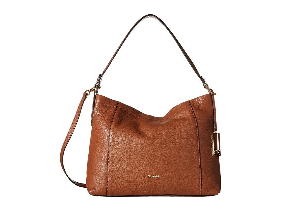 Calvin Klein - Pebble Hobo (Luggage) Hobo Handbags