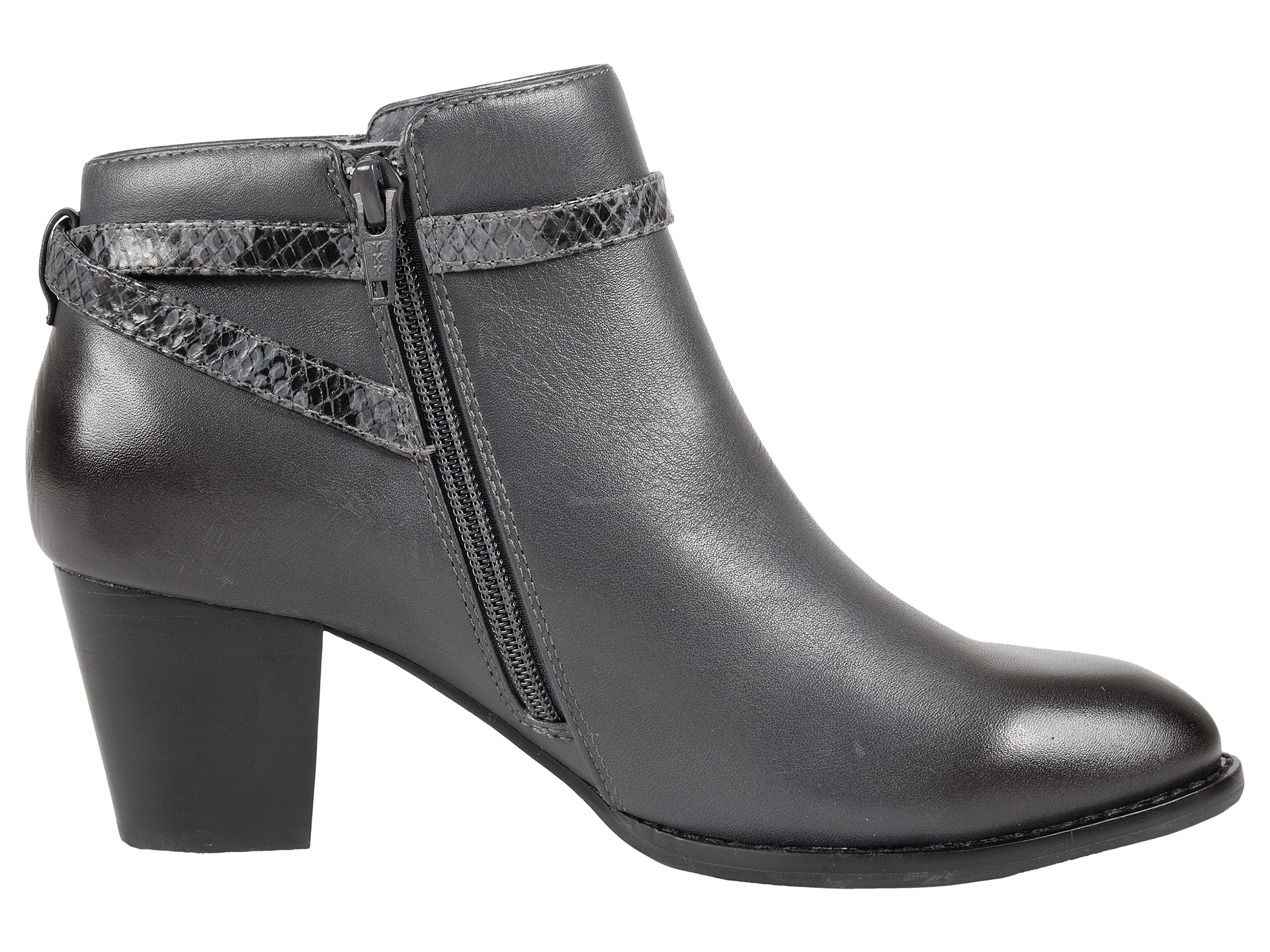 vionic upright upton ankle boot grey zappos