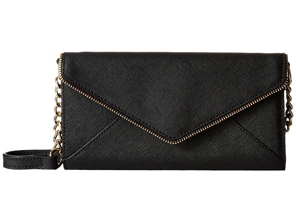 Rebecca Minkoff - Cleo Wallet on a Chain (Black) Wallet Handbags