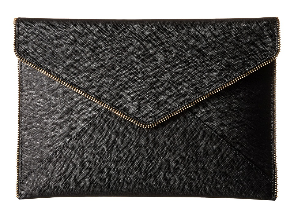 Rebecca Minkoff - Leo Clutch (Black 4) Clutch Handbags