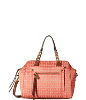 Tommy Hilfiger - Tessa - Monogram Jacquard/Smooth Convertible Dome Satchel