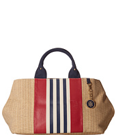 Tommy Hilfiger - Jolene - Printed Straw w/ Printed Stripes Shopper