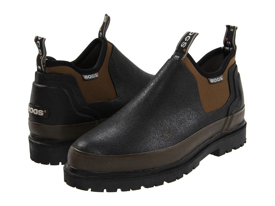 Bogs - Tillamook Bay (Black/Brown) Mens Slip on  Shoes