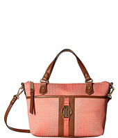 Tommy Hilfiger - Carly - Mini Monogram Jacquard/Smooth Convertible Shopper