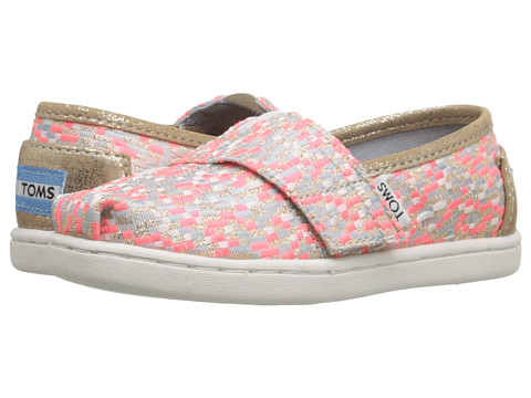 TOMS Kids Seasonal Classics (Infant/Toddler/Little Kid) - Pink Glitz Woven