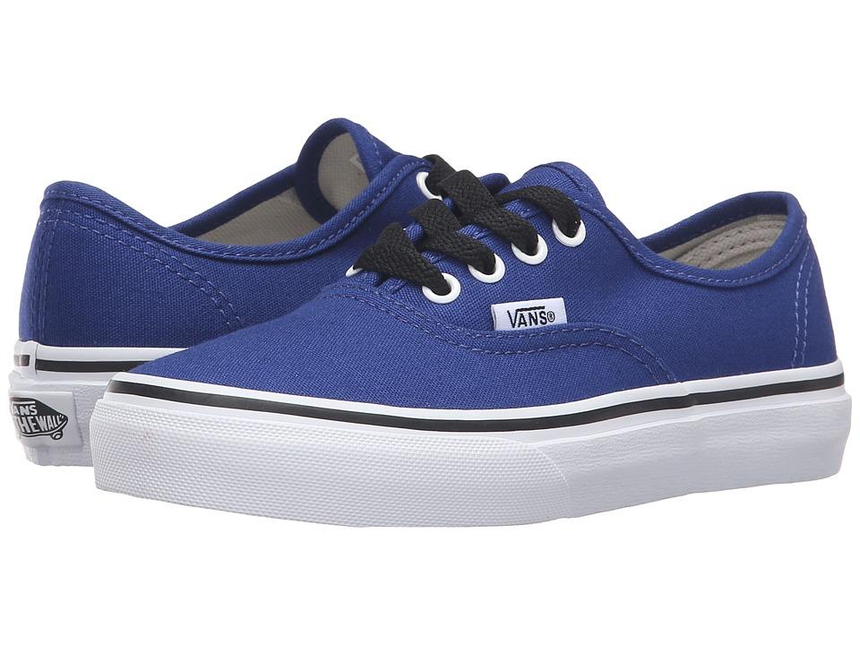 Vans Kids - Authentic (Little Kid/Big Kid) (Sodalite Blue/True White) Boys Shoes