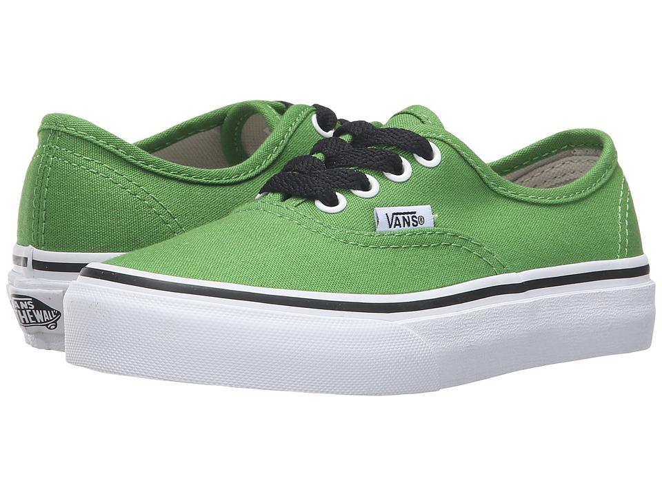 Vans Kids - Authentic (Little Kid/Big Kid) (Online Lime/True White) Boys Shoes