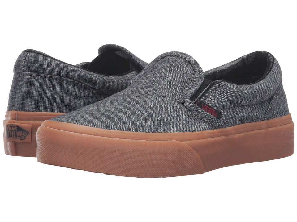 Vans Kids - Classic Slip-On (Little Kid/Big Kid) ((Gum) Suiting/Chili Pepper) Boys Shoes
