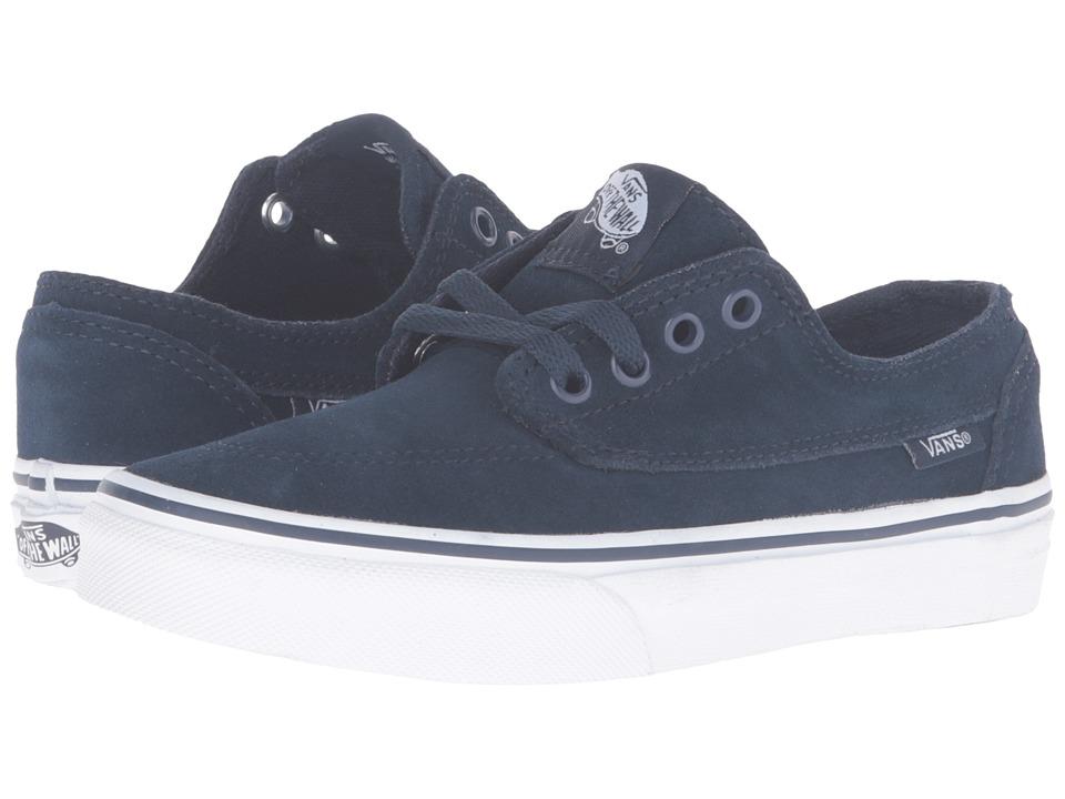 Vans Kids - Brigata (Little Kid/Big Kid) ((Suede) Dress Blues/True White) Boys Shoes
