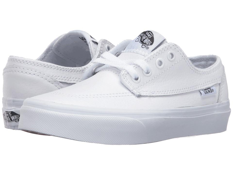 Vans Kids - Brigata (Little Kid/Big Kid) ((Leather) White/True White) Boys Shoes