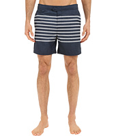 Original Penguin - Engineered Stripe Print Volley Swim Shorts