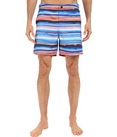 Original Penguin - Watercolor Printed Stripe Volley Swim Shorts