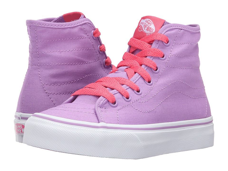 Vans Kids - Sk8-Hi Decon (Little Kid/Big Kid) ((Pop) African Violet/Camellia Rose) Girls Shoes