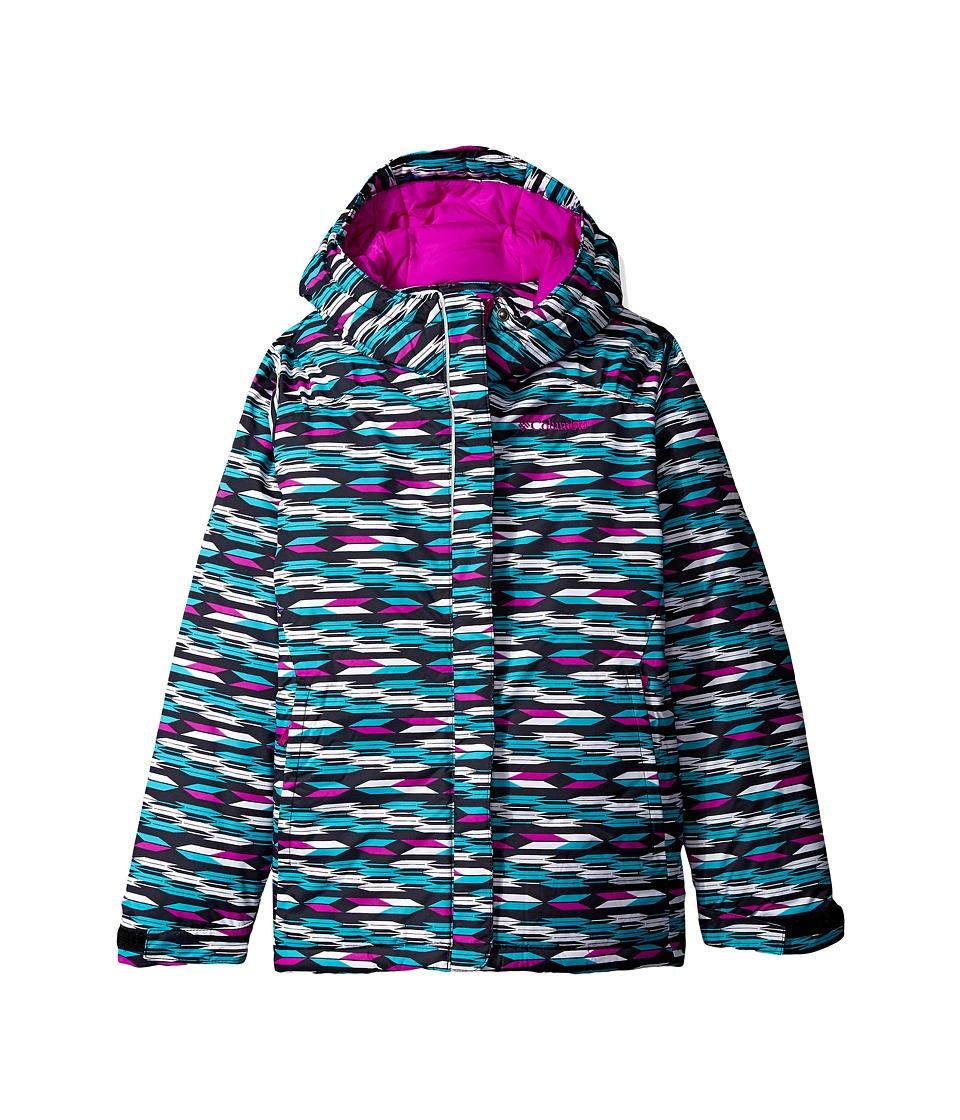 Columbia Kids - Horizon Ridetm Jacket (Toddler) (Black Arrows/Bright Plum) Girls Coat