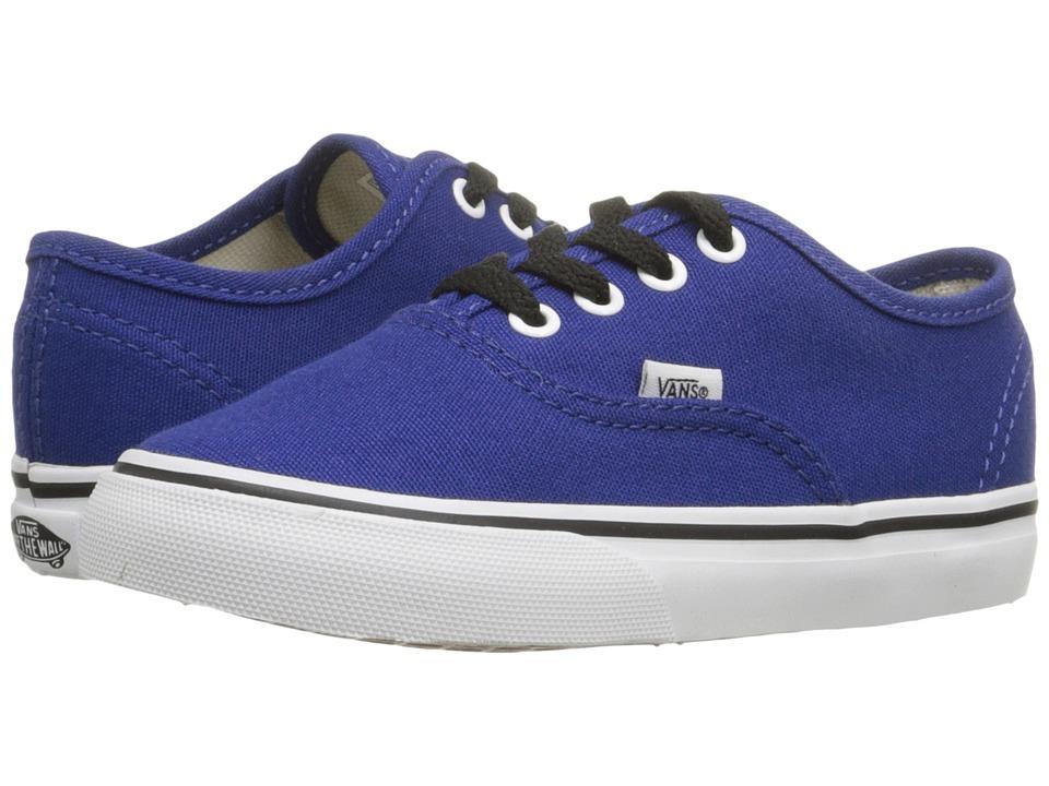 Vans Kids - Authentic (Toddler) (Sodalite Blue/True White) Boys Shoes